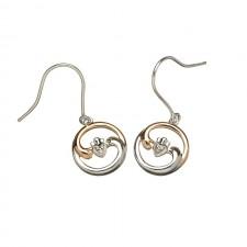Ying Yang Irish Claddagh Harmony Earrings