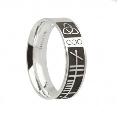 Ogham Mo Anam Cara Irish Wedding Band Sterling Silver
