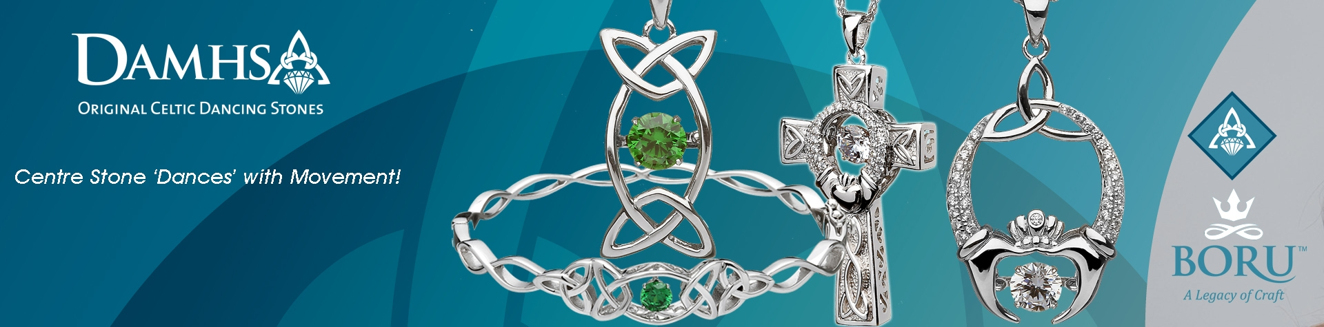 Damsha Celtic Dancing Stones Jewelry